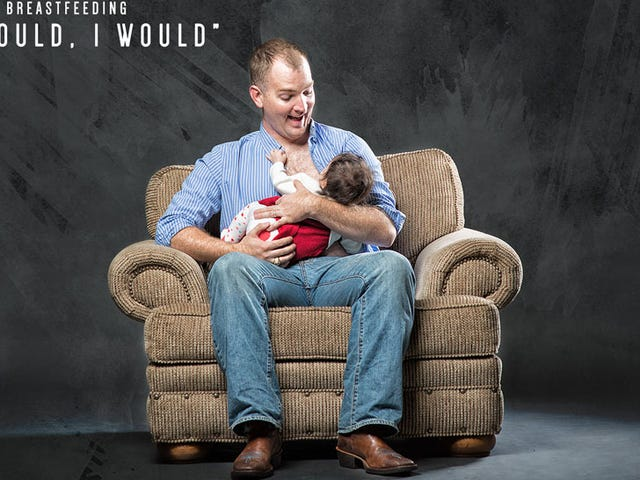 Dads Pretend to Breastfeed for Well-Intentioned But Annoying Campaign
