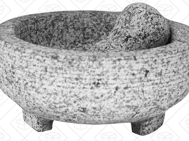 Grind Up Spices, Salsas, and Homemade Guac In This Discounted Molcajete