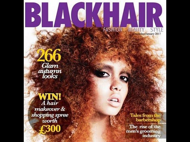 White Model Mistakenly Featured On <i>Blackhair</i> Magazine Cover