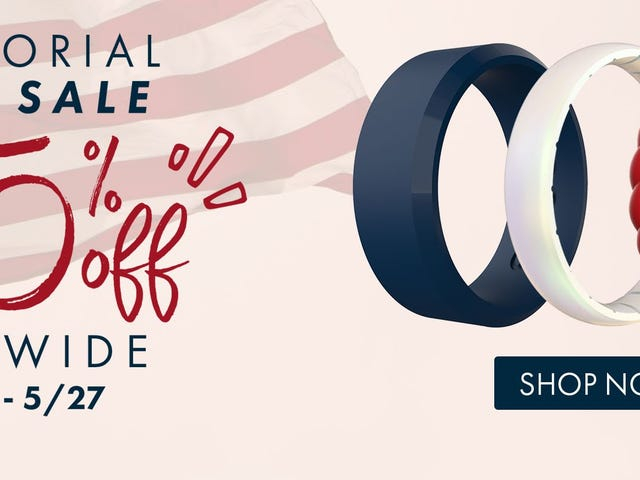 Keep Your Fingers Safe With 25% Off Enso Silicone Rings For Memorial Day