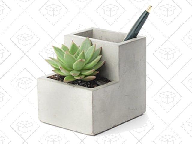 Đặt một số cây xanh trên bàn của bạn với chủ bút bê tông $ 12 này