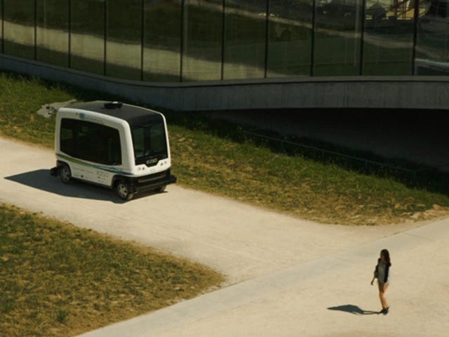 Those Self-Driving Buses Are My God So Slow