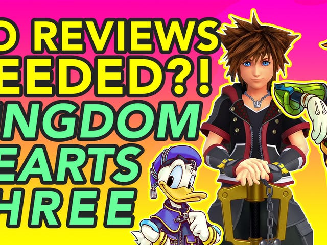 <i>Kingdom Hearts III</i> on tarkistamaton videopeli