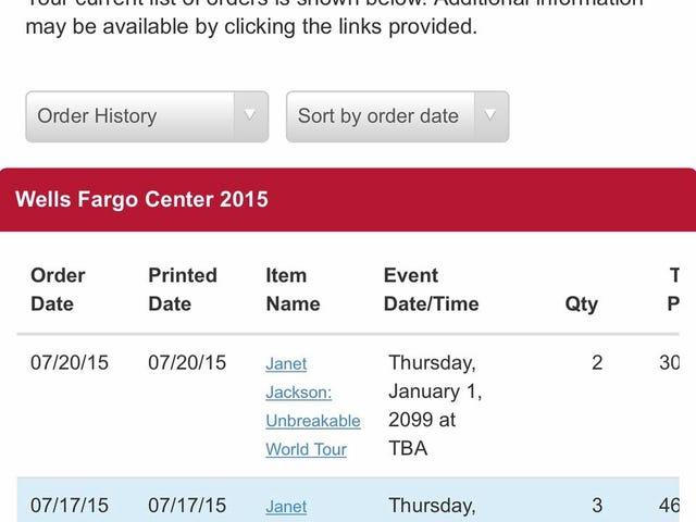 जेनेट पोस्टपोन टूर अगेन - फैंस को उनके पैसे वापस नहीं देंगे [संपादित करें - टिकटमास्टर अब केवल पहले टिकटों की वापसी कर रहे हैं]