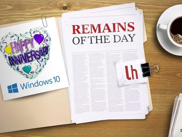 今日遗迹:Windows 10周年更新将于8月2日到来