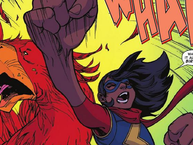 It's Friday, So Here's Ms. Marvel Punching Out What Is Basically a Chocobo From Final Fantasy