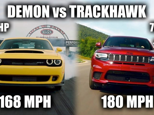 Here Is Why The Jeep Grand Cherokee Trackhawk Is Actually Faster Than The Dodge Demon