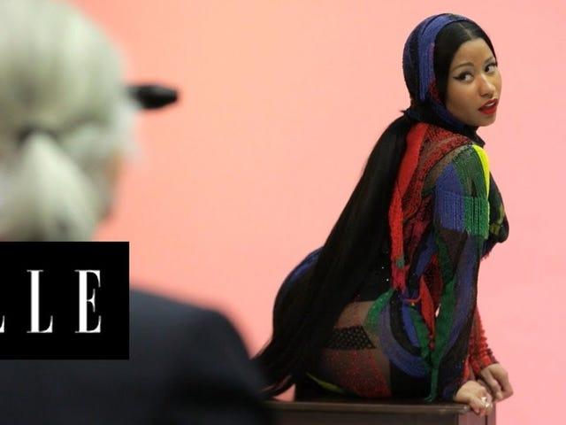 ¿Qué está mal con esta imagen?  Críticos del último colorismo de Elle Shoot Cry de Nicki Minaj