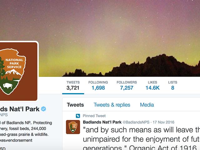 National Parks Service kan ikke slutte å vise Trump Shade på Twitter [Oppdatering]