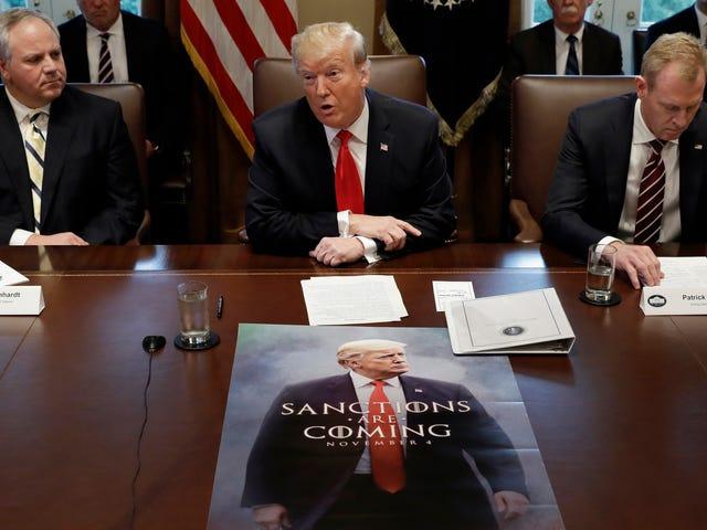 Trump'ın saçma tahtlar <i>Game of Thrones</i> Poster şimdi gerçek ve toplantılarda görünüşte