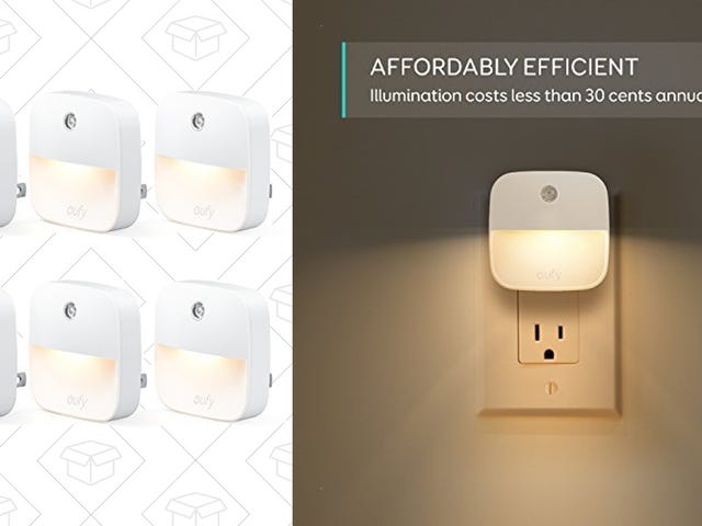 Illuminate Every Dark Corner With a 6-Pack of Night Lights, Just $15 Today