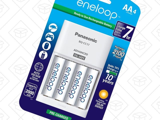 Start Your Eneloop Collection With Four AAs and a Charger For $13