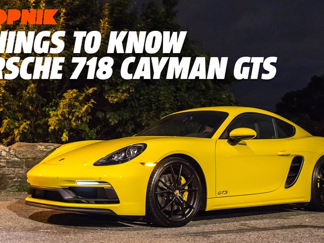 Five Things to Know About the Violently Yellow 2018 Porsche 718 Cayman GTS