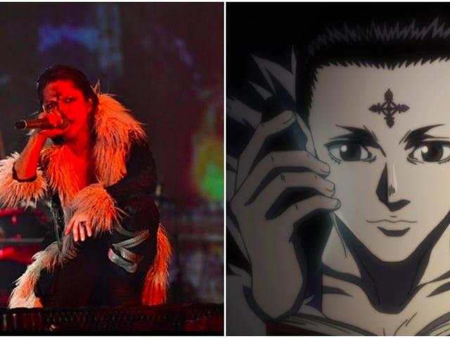 Japansk Rock Star udfører i Hunter X Hunter Cosplay