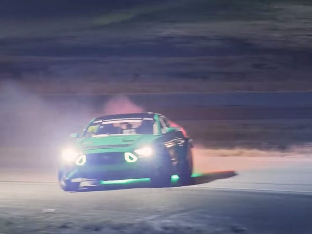 Vaughn Gittin Jr Celebrates St. Patrick's Day With An Impressive Clover Leaf Drift