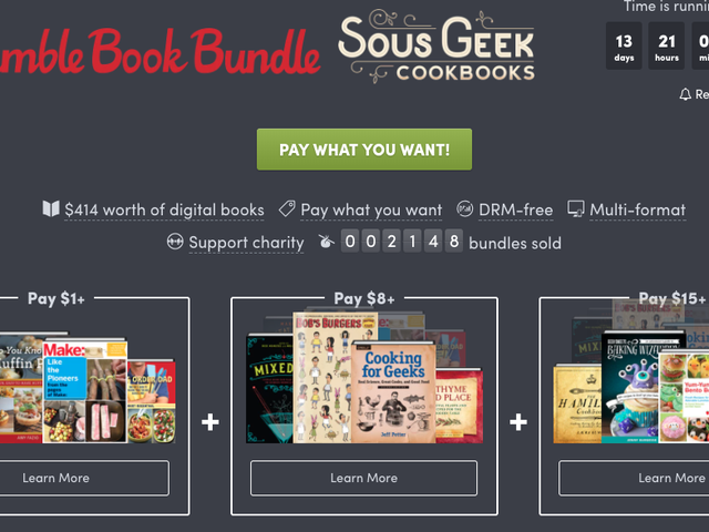 Learn Some New Geeky Recipes With The Newest Humble Bundle