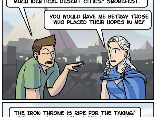 Funny webcomic on Game of Thrones: All Hail Ser Pounce
