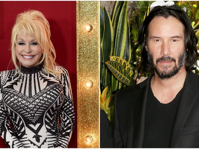 Dolly Parton and Keanu Reeves are pretty dang cute together