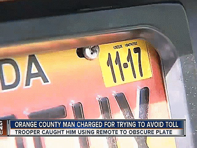 Florida Man Is Not James Bond, Gets Caught With License Plate Gadget