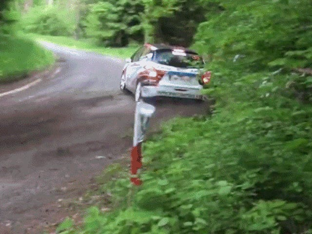 Watch Every Rally Car In Existence Crash On The Same Corner