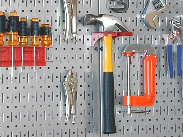 Keep Your Tools Organized On This Steel Pegboard, Just $26