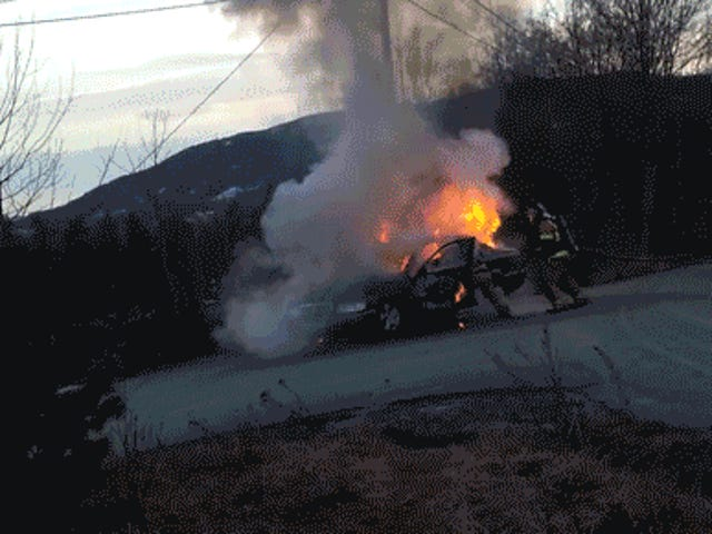 Firefighters Attempt To Extinguish Car Fire And Everything Goes To Hell
