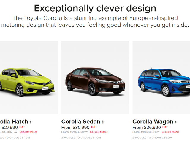 Toyota New Zealand currently sells 3 vastly different versions of the Corolla