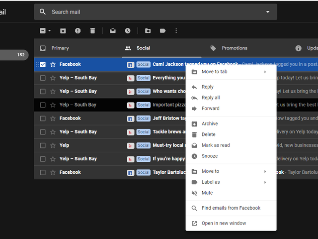 Organize Your Gmail Inbox Fast by Right-Clicking
