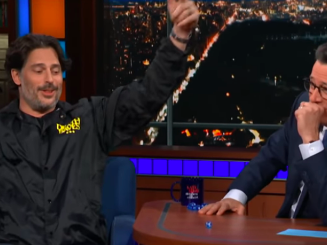 On The Late Show, Joe Manganiello and Stephen Colbert go off-quest, talk D&D for nine minutes