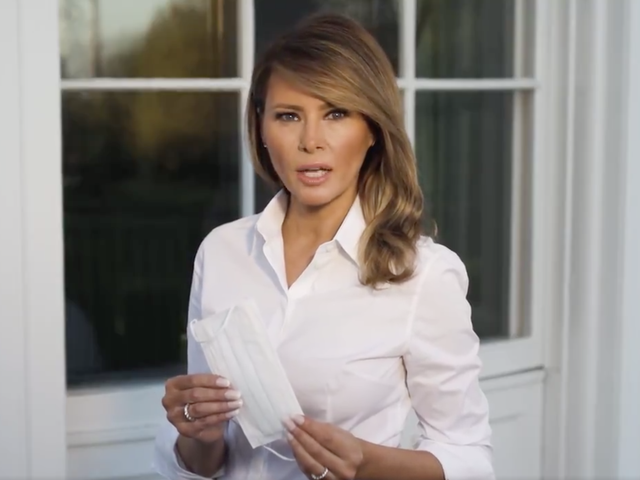 """Melania Really Wants You to Wear a """"Cloth Face Covering"""""""