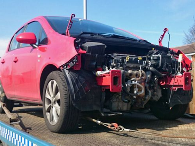 Thieves probably can't drive manuals - steal Vauxhalls in pieces