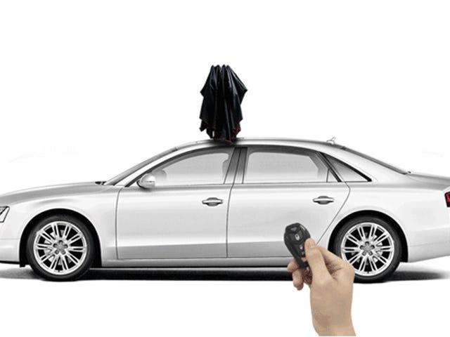 Heat Stroke gjør meg desperat vil denne gigantiske paraplyen for bilen min
