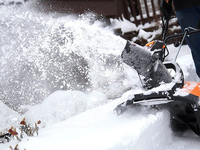 Be Ready For the Next Bomb Cyclone With This $97 Electric Snow Thrower