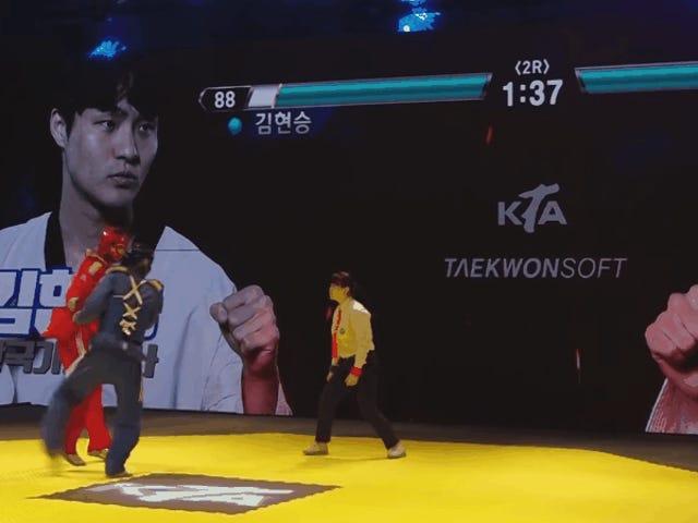 Las barras de salud estilo Tekken hacen que mirar Taekwondo sea mucho mejor