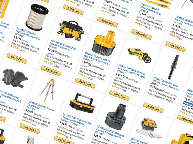 Spend $100, Save $25 On Pretty Much Any DEWALT Tool Purchase