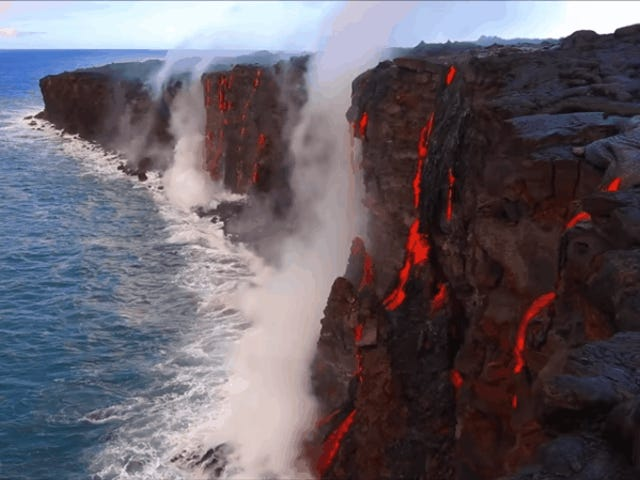 Have You Ever Really Looked at Lava Falling Into the Ocean?