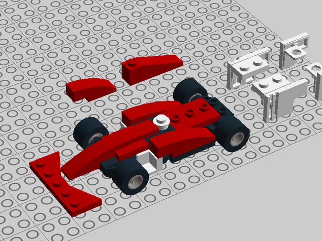 I'm currently building a little Ferrari SF-70H in LEGO