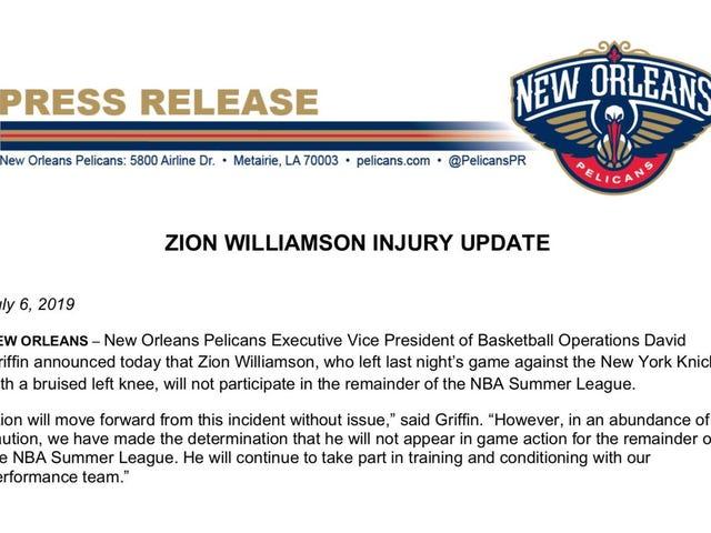 Zion Williamson, Bu Sezondaki Yük Yönetimine Başladı