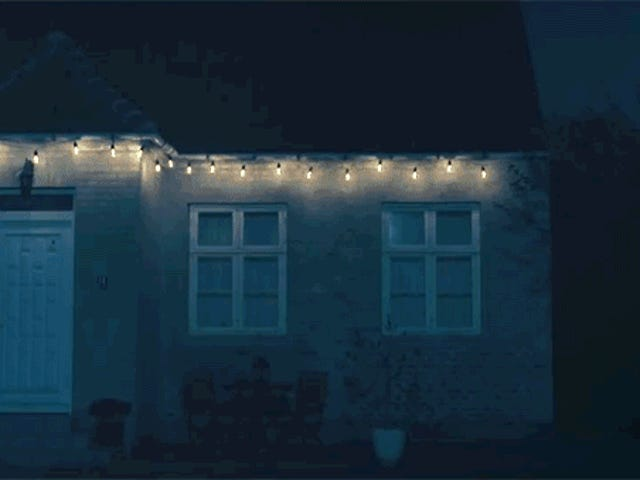 These Motion-Activated Christmas Lights Become Intensely Bright To Scare Off Intruders