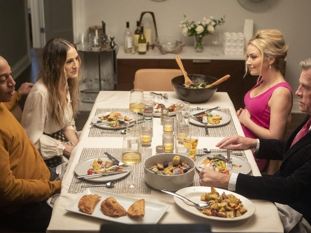 A double date between exes gets tense on Divorce
