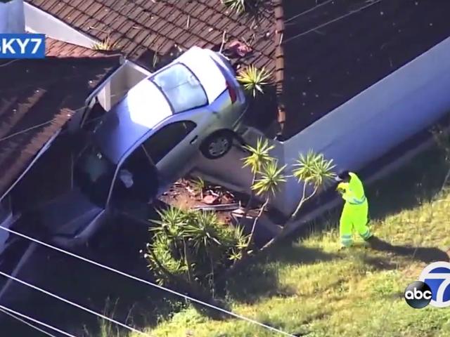 California Couple Says They Slept Through A Car Crashing Into Their House