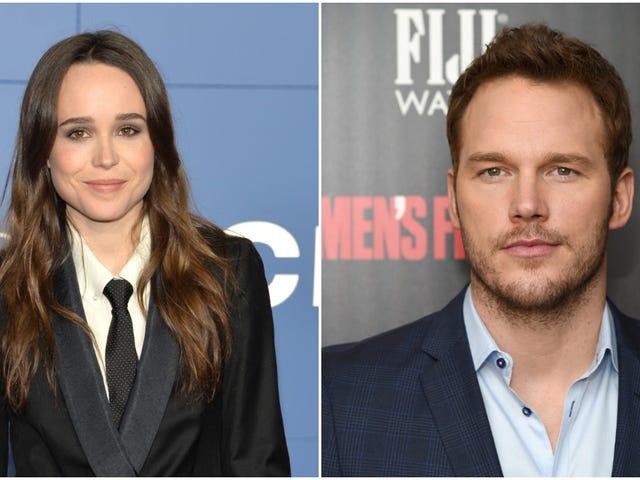 """Ellen Page memanggil gereja """"Anti-LGBTQ"""" Chris Pratt"""