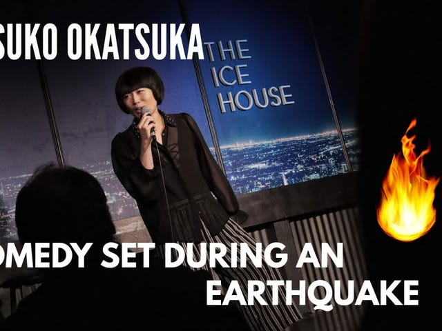 Stand-up comedian Atsuko Okatsuka keeps set going right through an earthquake