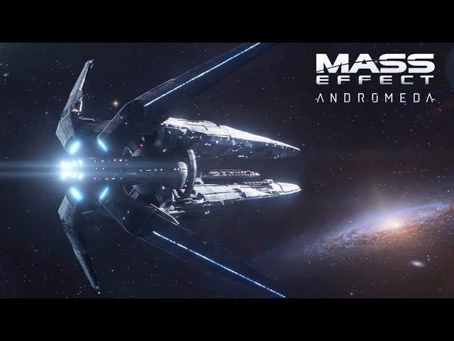 Commander Shepard passerer fakkelen i <i>Mass Effect: Andromeda</i> N7 Day Video