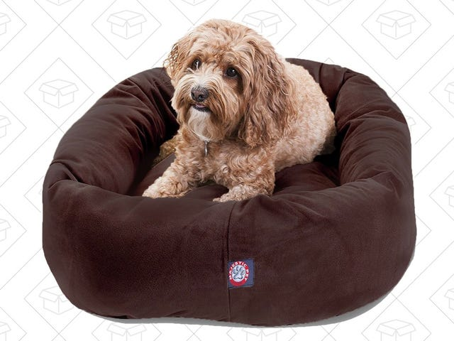 Treat Your Pup To A Discounted, Highly-Rated Bagel Dog Bed