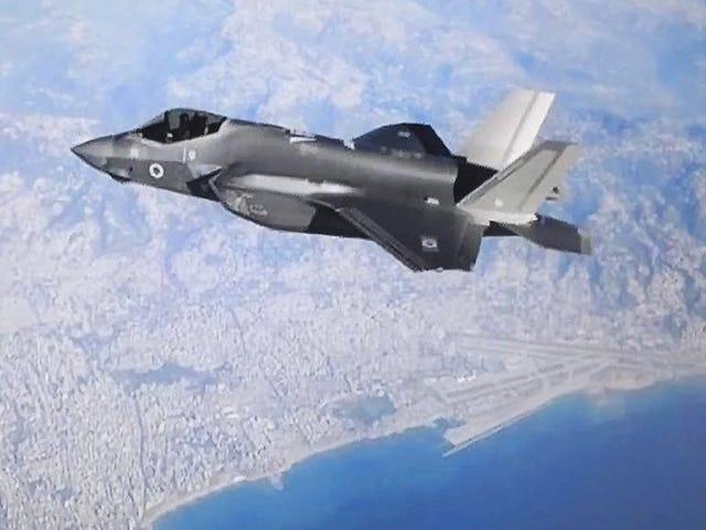 Aqui está um F-35 israelense pendurado sobre o Líbano, sem grandes negócios