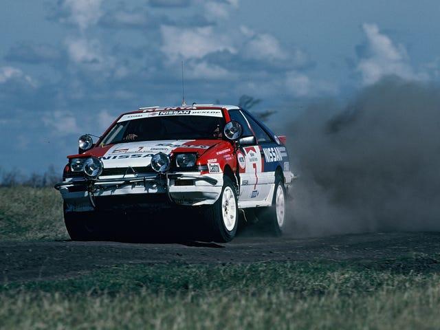 Erittäin litteä aamulla teille 1987 Safarin rallista ja Nissan S12 Silvia 200SX: stä