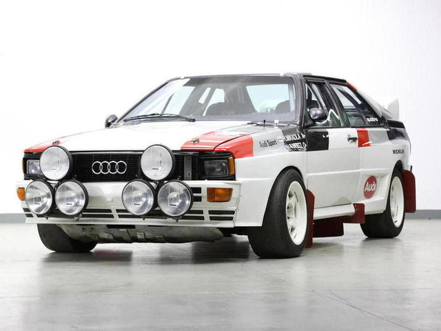 HOLY CRAP. A 1982 Audi Quattro A1 Group B Rally Car is up for sale!