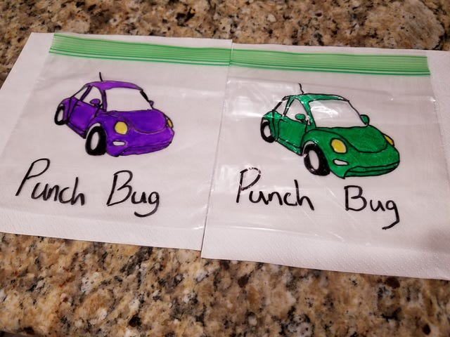Taught my kids about the Punch Bug game last week.