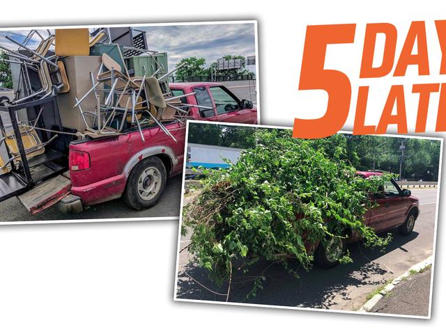 Un conducteur de GMC Sonoma s'est arrêté à deux reprises en l'espace de cinq jours pour avoir surchargé son camion